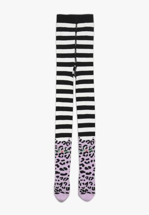 LEO CAT - Tights - black/white