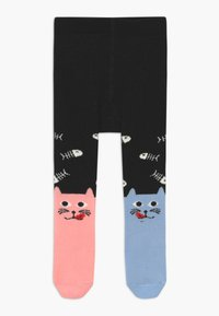 WAUW CAPOW by Bangbang Copenhagen - DINING DUO TIGHTS WITH FEET - Medias - black - 0