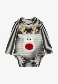 WAUW CAPOW by Bangbang Copenhagen - DEAR DEER BABY CHRISTMAS - Body - black /white - 3