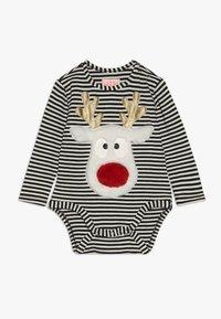 WAUW CAPOW by Bangbang Copenhagen - DEAR DEER BABY CHRISTMAS - Body - black /white - 0