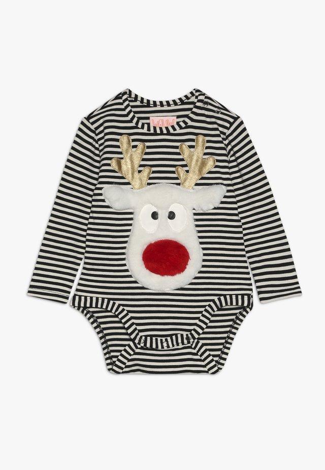 DEAR DEER BABY CHRISTMAS - Body - black /white