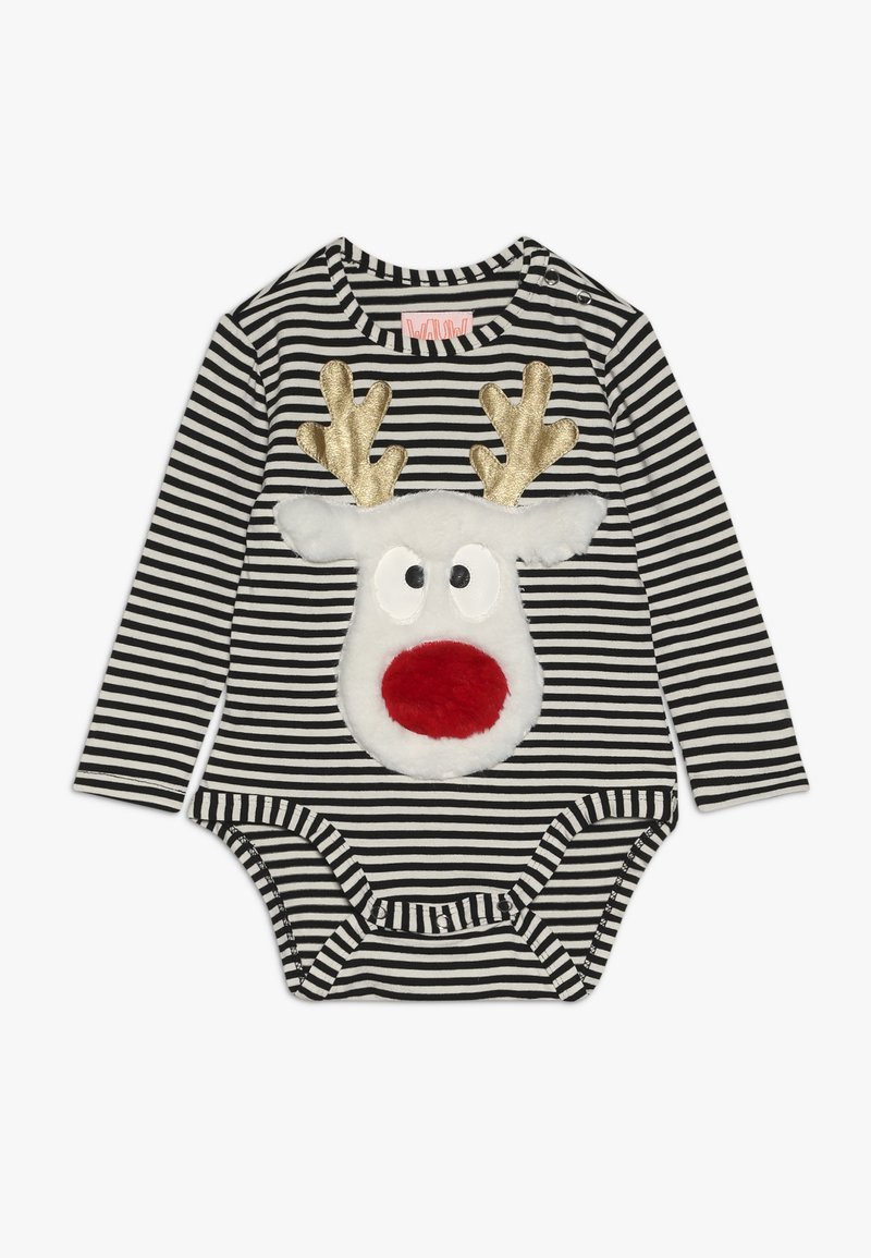 WAUW CAPOW by Bangbang Copenhagen - DEAR DEER BABY CHRISTMAS - Body - black /white