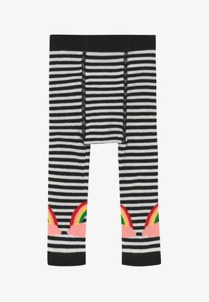 LUCKY RAINBOW - Leggings - white/black