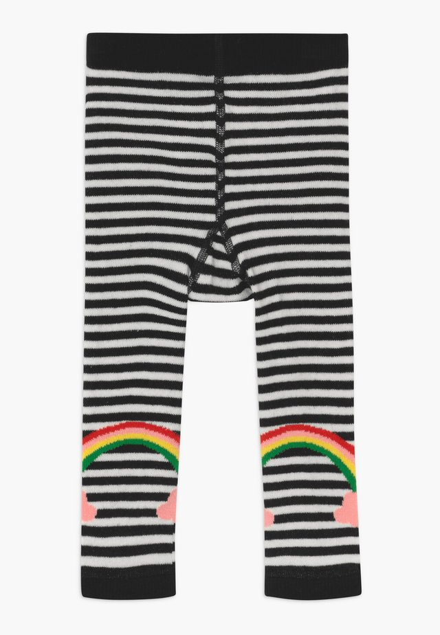 LUCKY RAINBOW - Leggings - Stockings - white/black