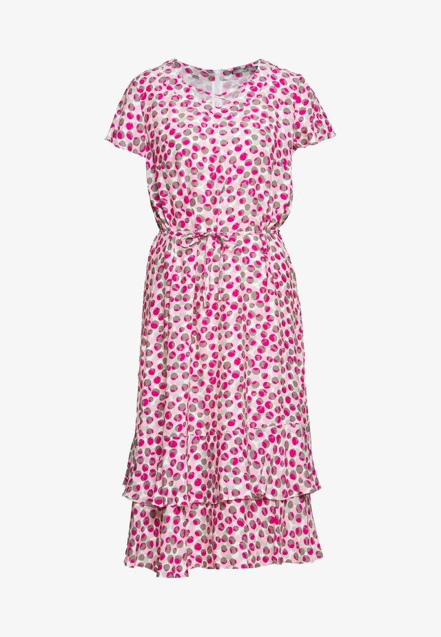 Korte jurk - rose/ platin/ offwhite