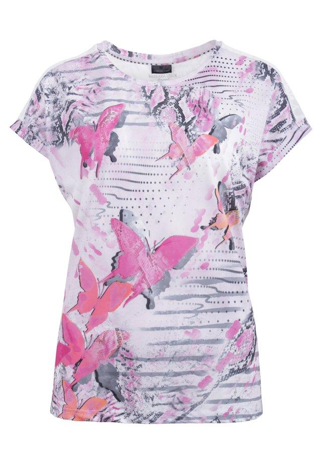 Print T-shirt - grau/rosa