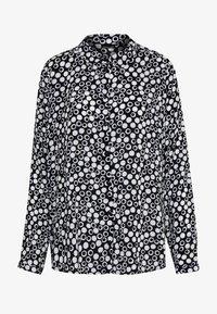 Barbara Lebek - BLUSE GEMUSTERT - Button-down blouse - black/offwhite - 4