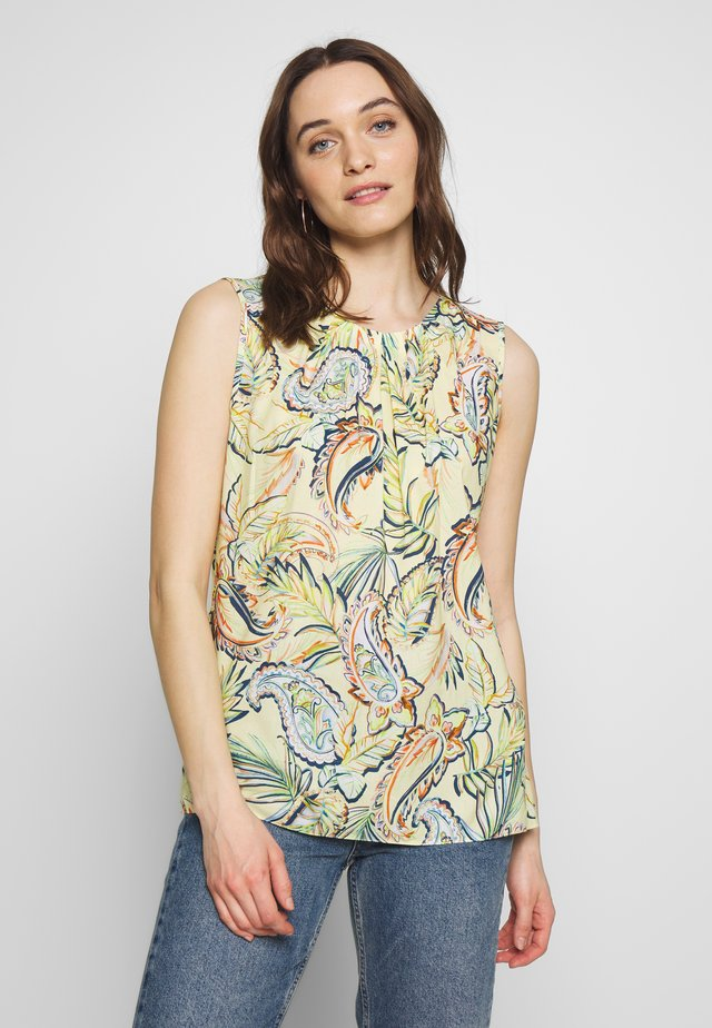 TOP GEWEBE - Bluse - lemon/ denim blue/ orange