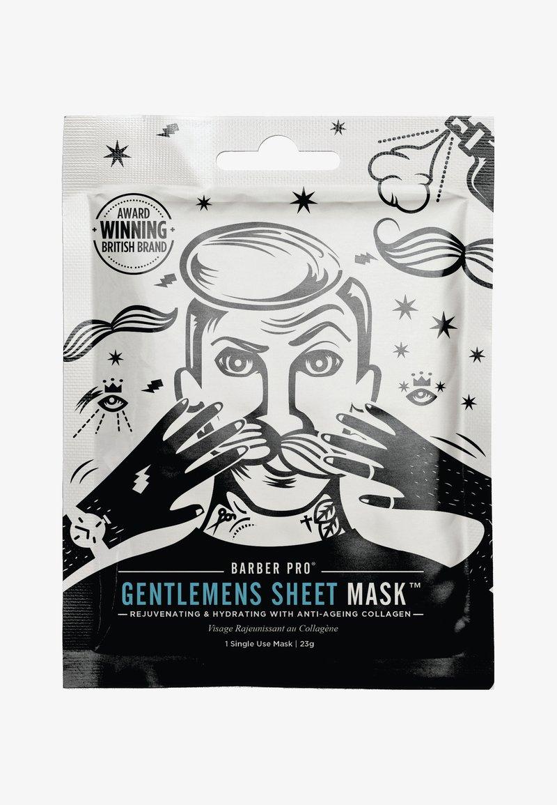 Barber Pro - GENTLEMEN'S SHEET MASK 23G - Masque visage - -
