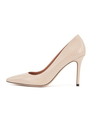 Højhælede pumps - light beige