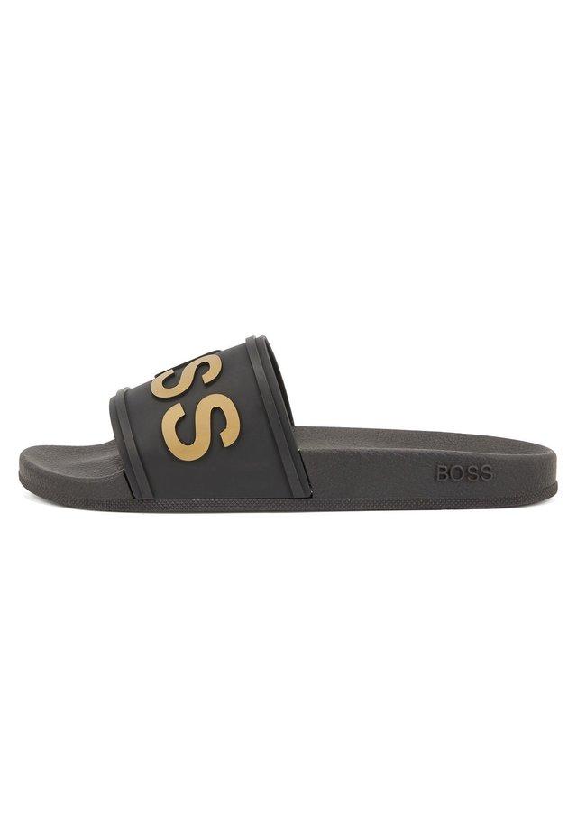 BAY SLID - Sandales de bain - black