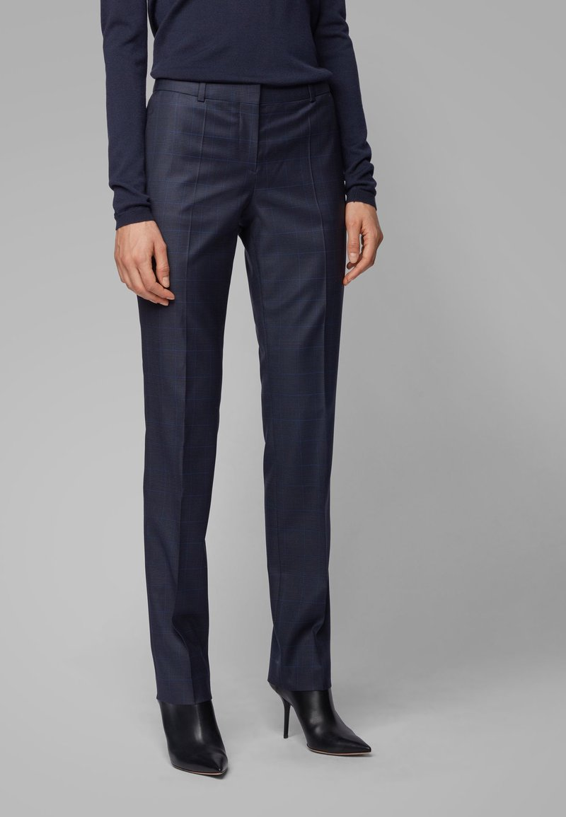 BOSS - TITANA - Trousers - dark blue