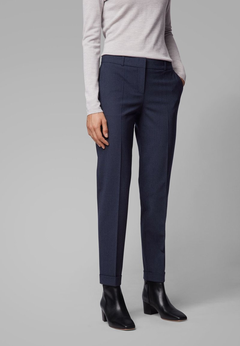 BOSS - TOCANES - Trousers - blue