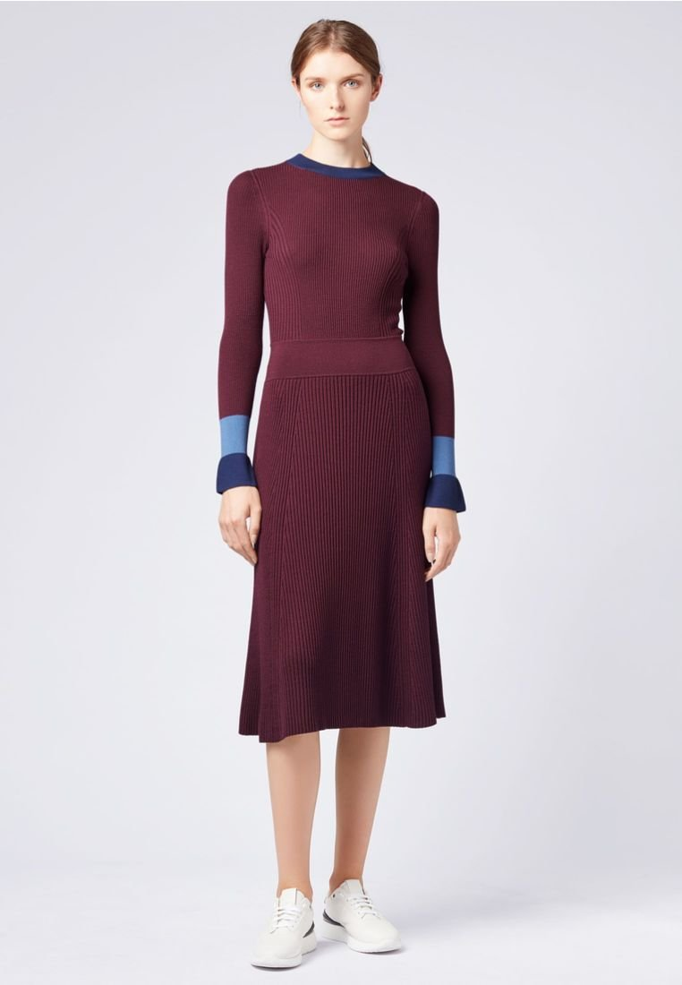 BOSS - FUSSA - Jumper dress - bordeaux