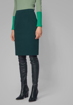 VAXINE - Pencil skirt - dark green