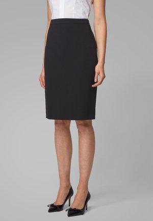 VILETARA - Pencil skirt - black
