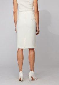 BOSS - VINOA - Pencil skirt - white - 2