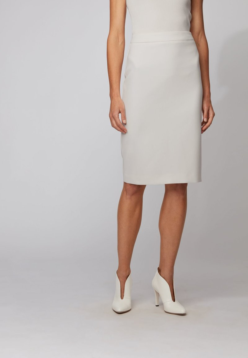 BOSS - VINOA - Pencil skirt - white