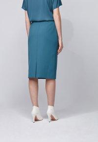 BOSS - VINOA - Pencil skirt - dark blue - 2
