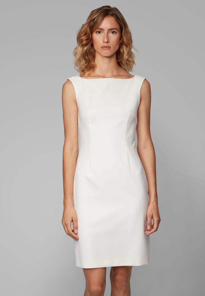 BOSS - DIKIVA - Robe fourreau - white