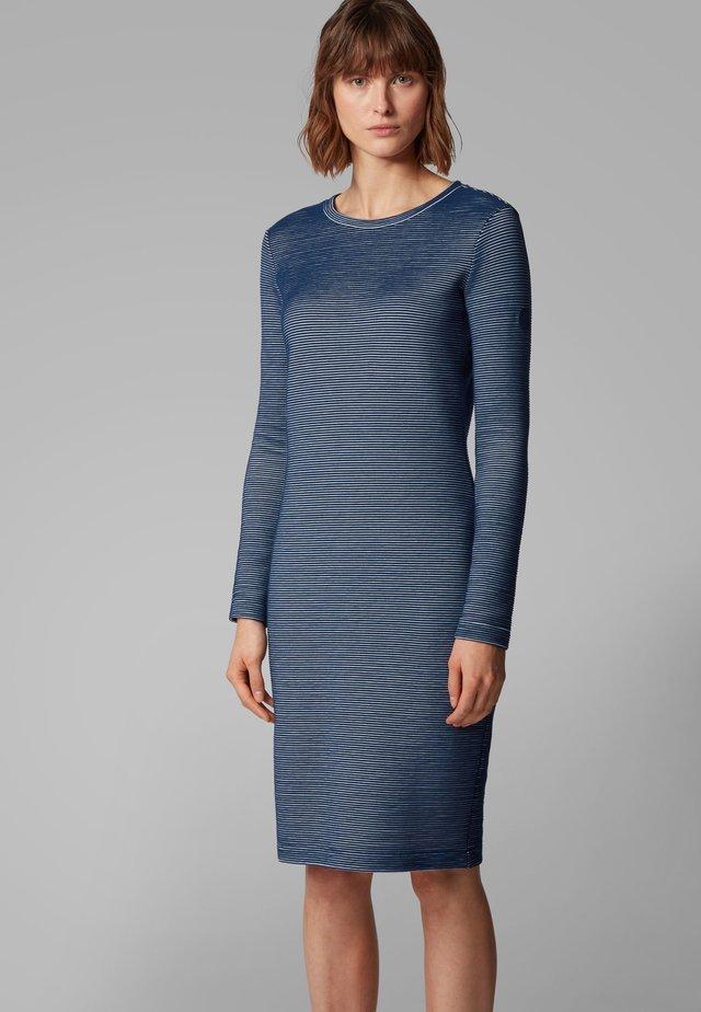 DAMALIN - Gebreide jurk - dark blue