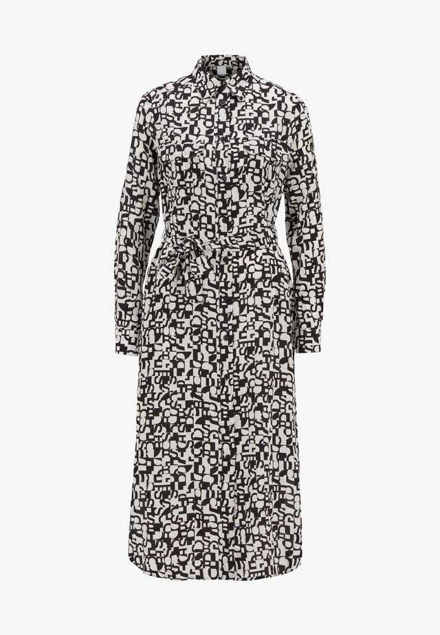CALLURA - Shirt dress - black, white