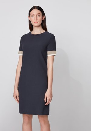 DASTRIPED - Shift dress - open blue