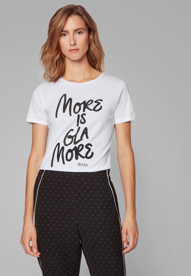 TEFUN - Print T-shirt - white