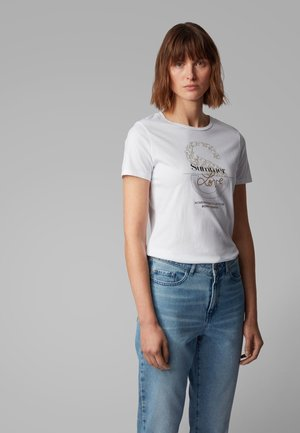 TENOVEL - Print T-shirt - white