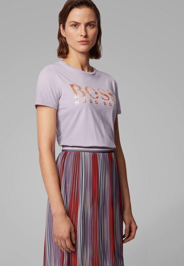 TECATCH - Print T-shirt - light purple