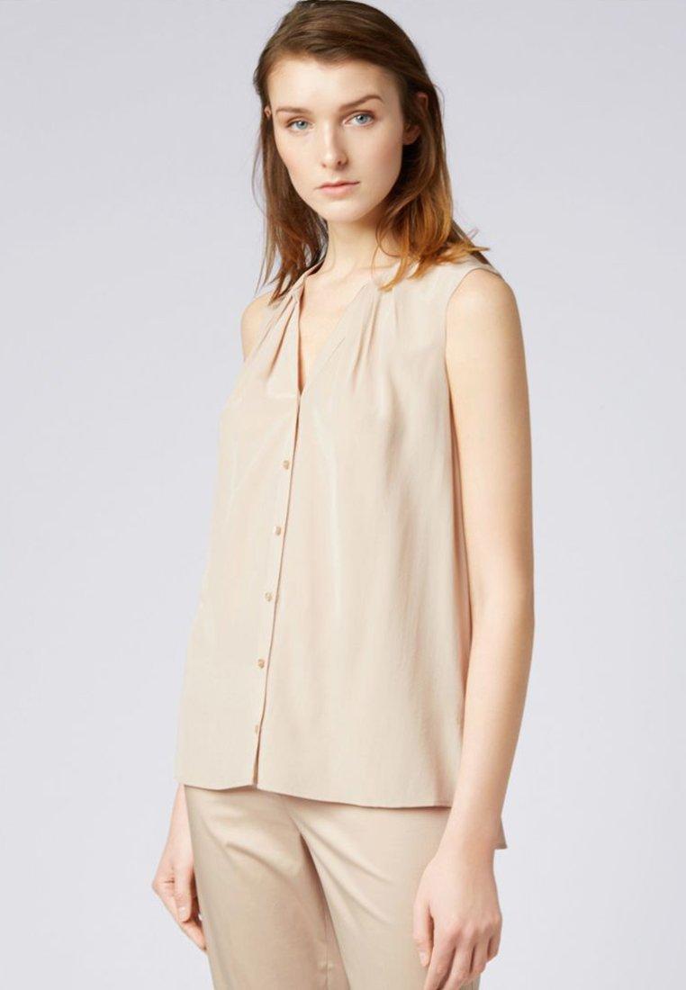 BOSS - BOSSALIA ohne Ärmel Regular Fit - Button-down blouse -  beige
