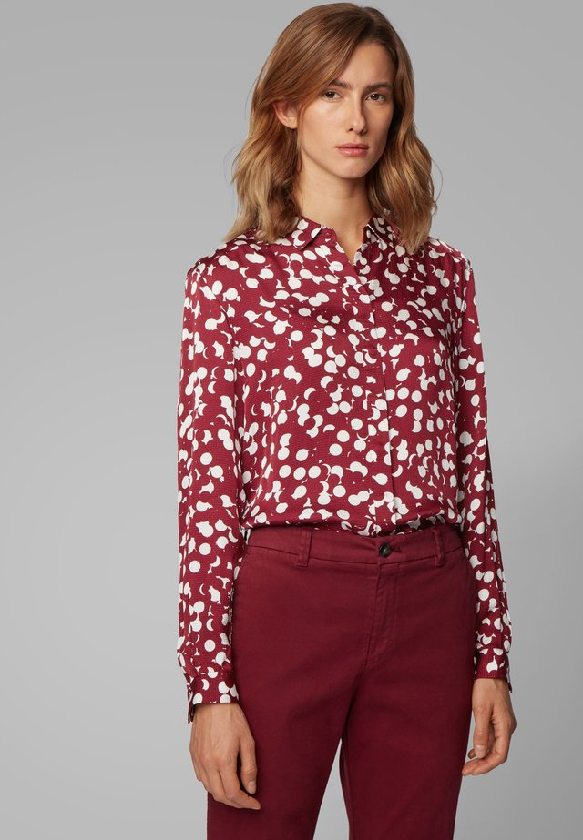 EMPOI - Button-down blouse - bordeaux