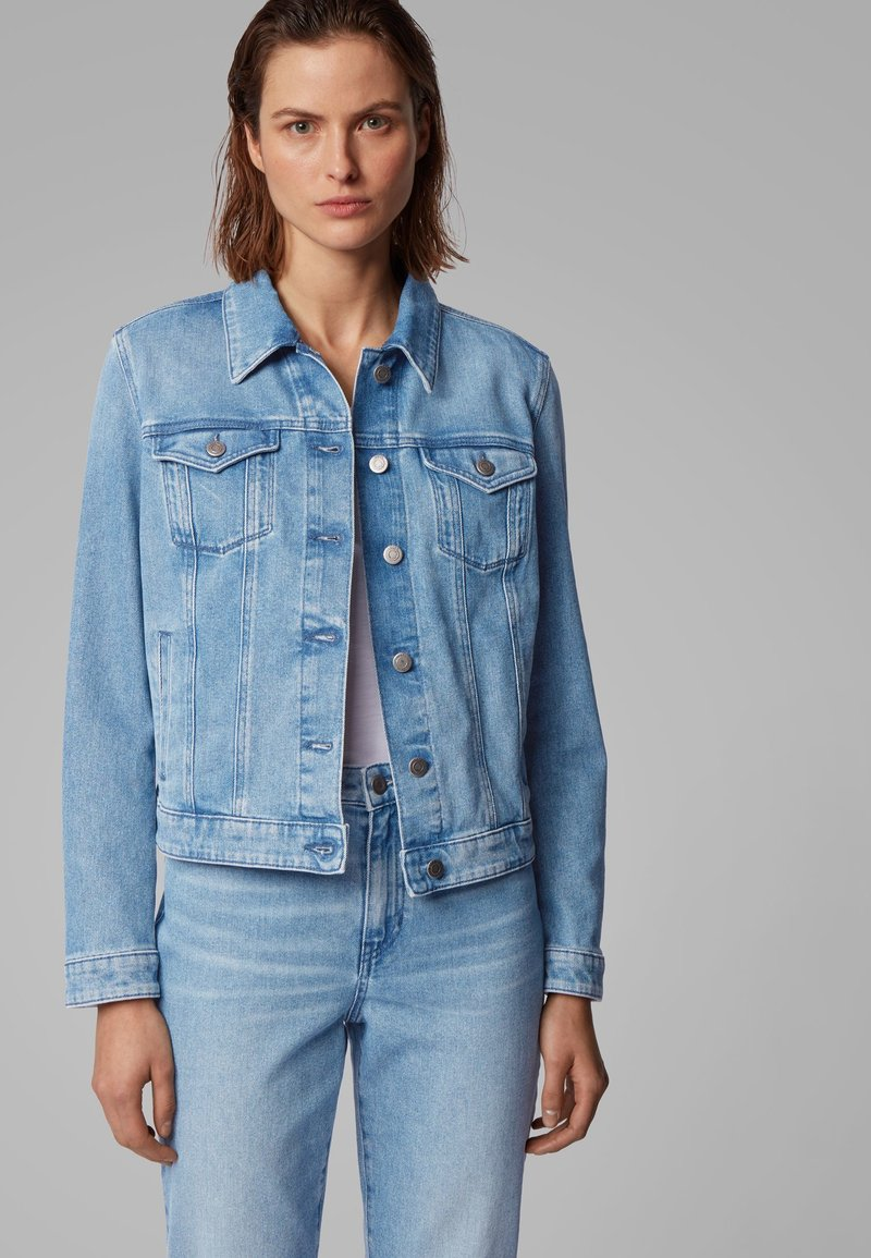 BOSS - J90 GHENT - Denim jacket - blue