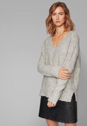 WILLALLON - Strickpullover - light grey