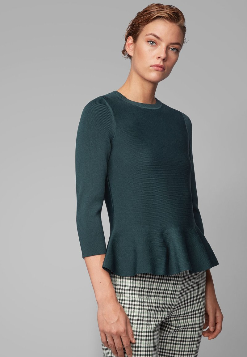 BOSS - Strikpullover /Striktrøjer - dark green