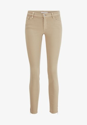 J15 NAFICE ZIP - Jeans Skinny Fit - beige