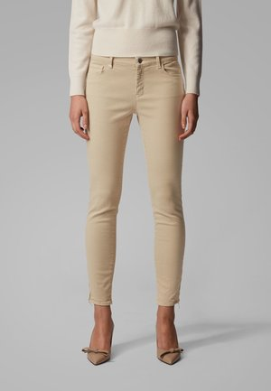 J15 NAFICE ZIP - Jeans Skinny Fit - beige