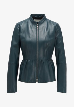 SATEUR - Leather jacket - dark green