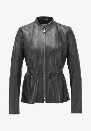 SATEUR - Leather jacket - black