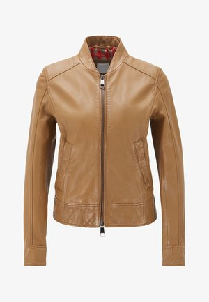JAMEGGY - Leather jacket - beige