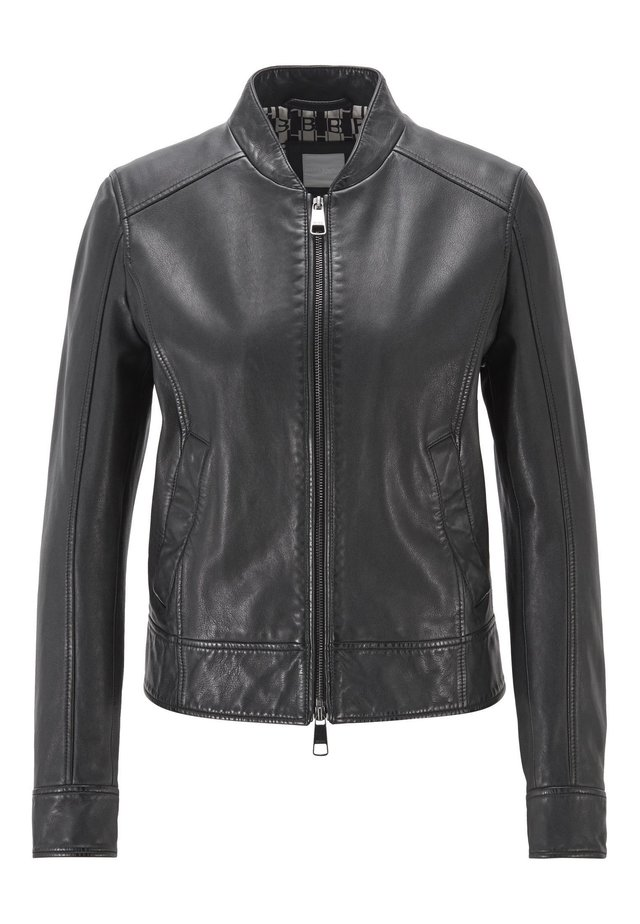 JAMEGGY - Lederjacke - black