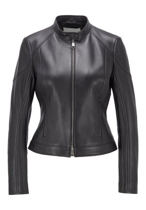 SAFLAMA - Leather jacket - black