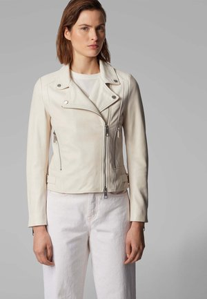 JUANA - Leather jacket - natural