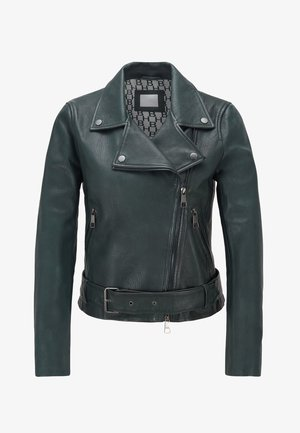 JASOHO - Veste en cuir - dark green