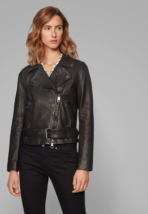 JASOHO - Leather jacket - black