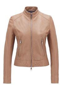 BOSS - JABELIA - Leather jacket - beige - 0