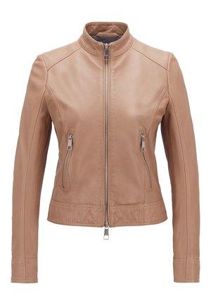 JABELIA - Leather jacket - beige