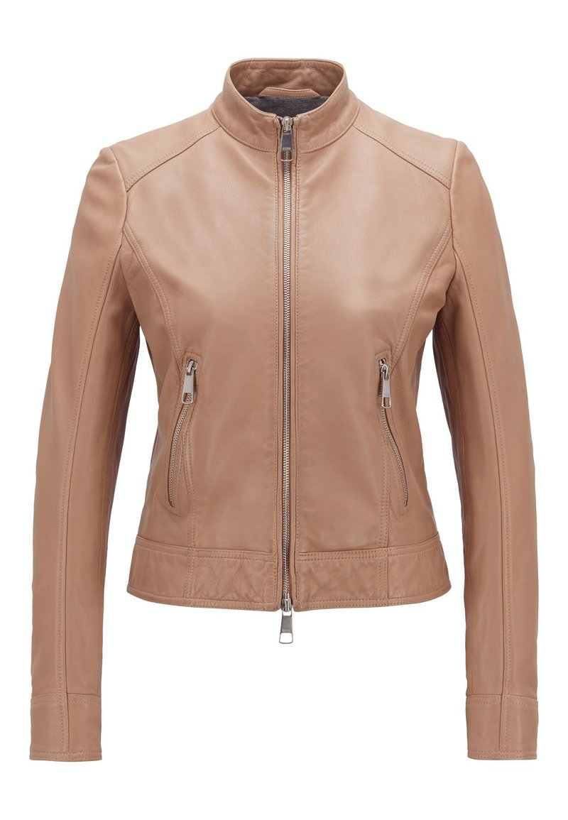 BOSS - JABELIA - Leather jacket - beige