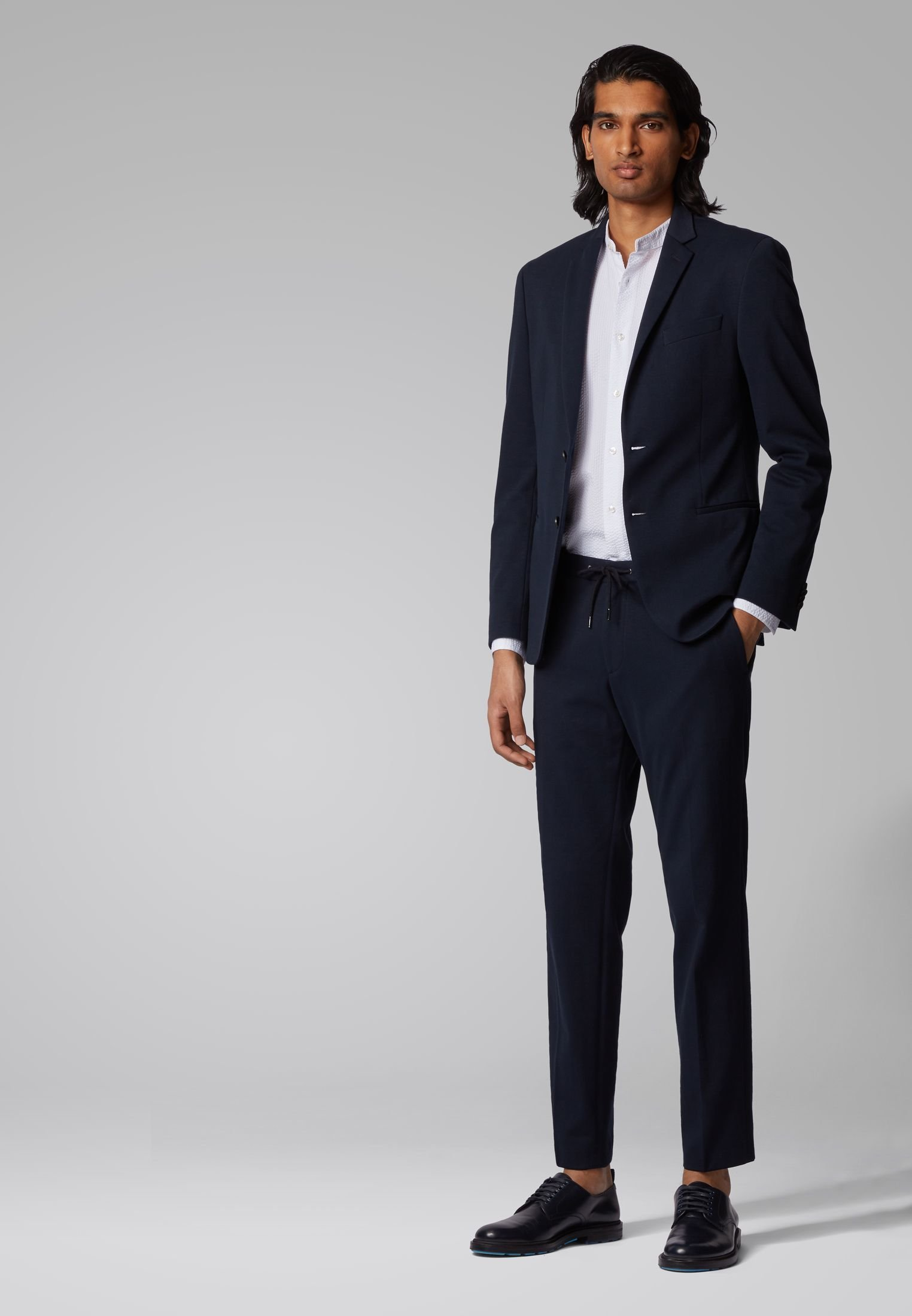BOSS BANKS4-J - Trousers - dark blue