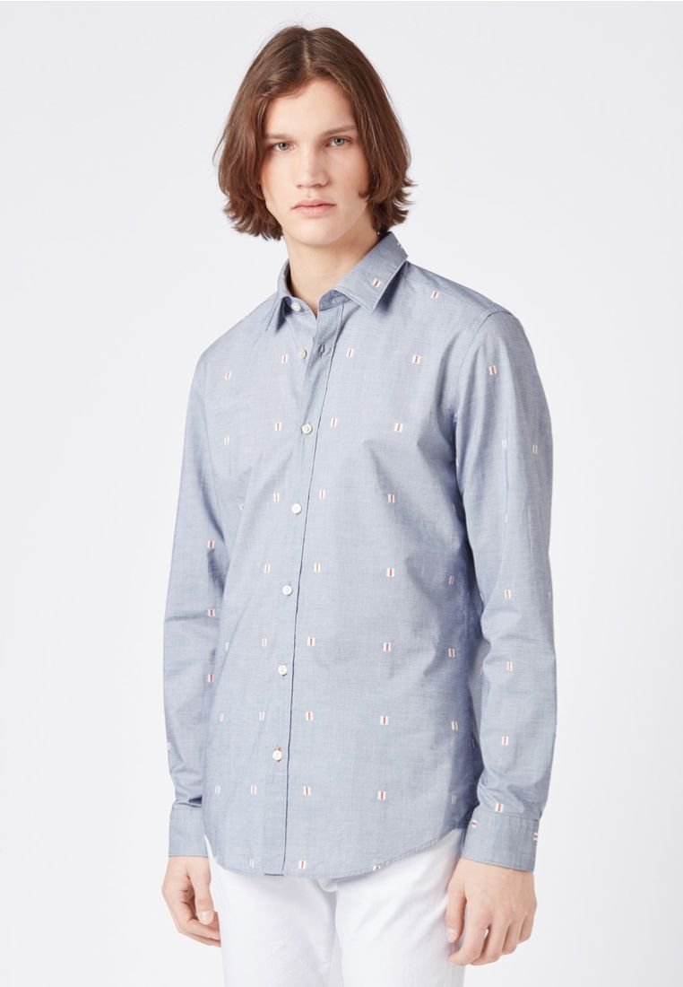 BOSS - LUKAS Regular Fit - Shirt - dark blue